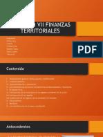 CAPITULO VII FINANZAS TERRITORIALES