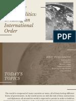 A HISTORY OF GLOBAL POLITICS