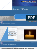 Who is Competitive TVET Leader