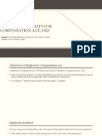 Employer's liability for compensation act, 1923