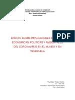 ENSAYO IMPLICACIONES SOC,POLIT,ECONOM Y AMB DEL CORONA VIRUS