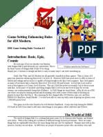 Dragon Ball Z d20 v4.5 Part 1