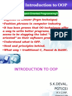 Introduction OOP skd
