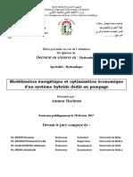 Modélisation énergétique et optimisation économique dun système hybride dédié au pompage.pdf
