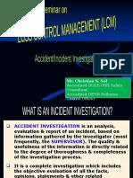 ACCIDENT INVESTIGATION & ANALYSIS