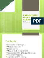 Presentation on Caustic Corrosion