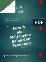 Manajemen Forum Ppt