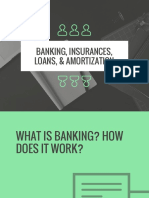 banking, insurances, loans, & amortization