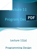 Lecture 11 Program Design