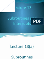 Lecture 13 Subroutines and Interrupts.pptx