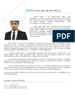Brief profile- Sachin Dedhia(1)