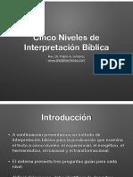 Cinco niveles de Interpretacion biblica.pdf