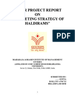 Minor Project Report on Haldirams - DocFoc.com
