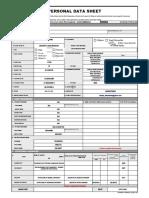 CS Form No. 212 Personal Data Sheet  revised