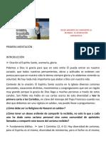 RETIRO  - DESEO ARDIENTE DE COMPARTIR LO RECIBIDO