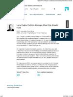 Larry Puglia, Portfolio Manager, Blue Chip Growth Fund