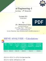 Lec #6 (Hydrometer Analysis)