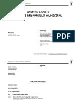 gestion local y plan de desarrollo municipal