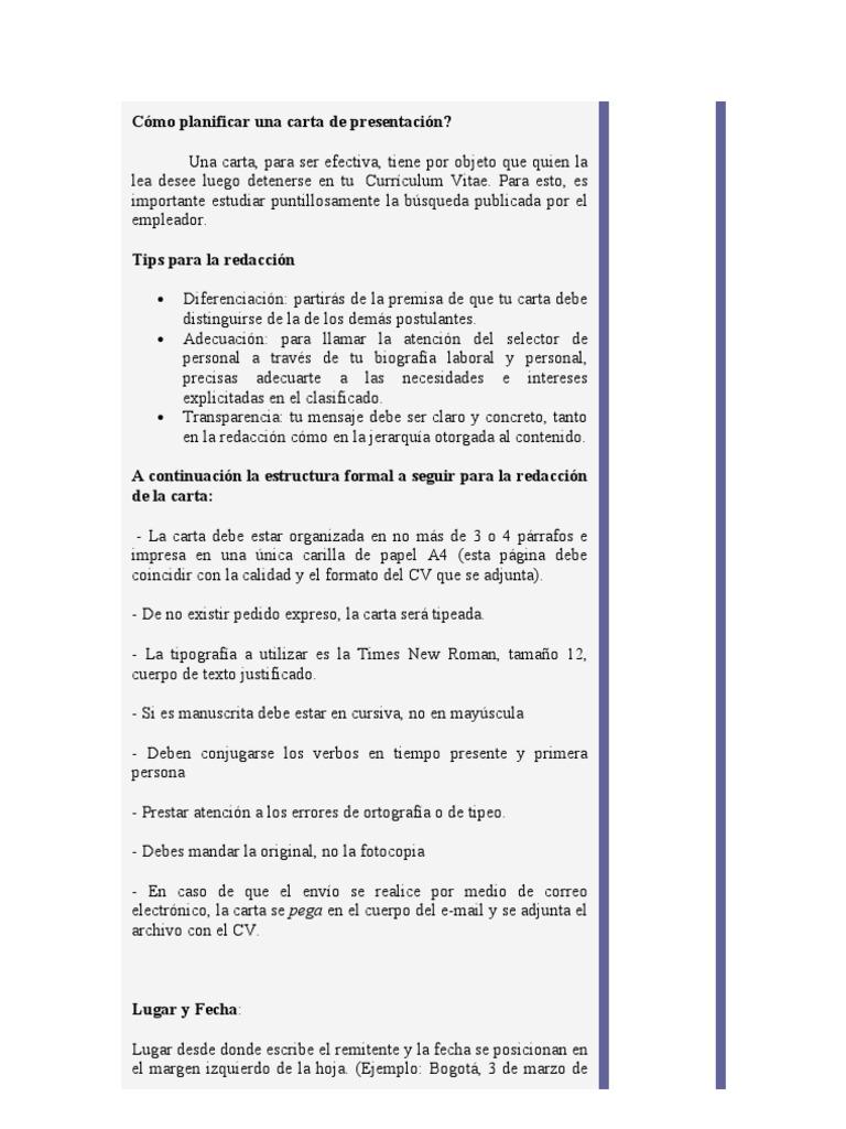 Famoso Presentación De Carta De Currículum Componente - Ejemplo De ...