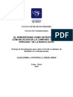 Trabajo de investigacion _ EL FEMVERTISING COMO ESTRATEGIA DE COMUNICACIÓN - DOVE - 2019_Mejia-Rios