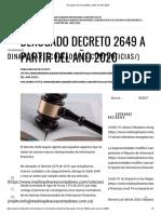 Derogado Decreto 2649 a partir del año 2020 -