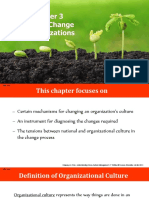 CHAPTER 3- CULTURAL CHANGE IN ORGANIZATIONS