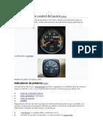 Instrumentos de control del motor
