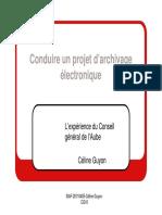 GUYON archivage électronique
