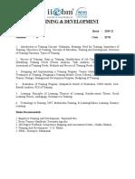 207H  -  Training & Development-HR