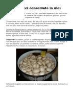 Ciuperci Conservate in Ulei (Renate)