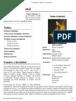 Tomás el Apóstol - Wikipedia, la enciclopedia libre