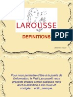 Georges-Pierre Tonnelier aime ces définitions du dictionnaire Larousse