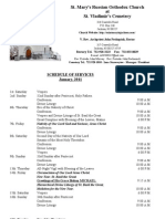 1. Schedule of Divine Services - January, 2011