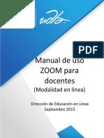 Manual de uso Zoom