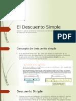 El Descuento Simple (1)