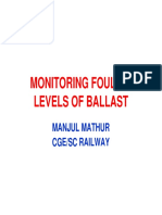 monitoring fouling ballast