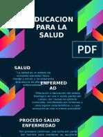 PRESENTACION EDUCAICON   LA  SALUD