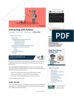 Interacting with Python