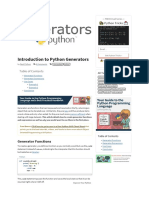 Introduction to Python Generators