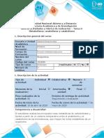 Guía de actividades y rúbrica evaluación - Tarea 3 – Metabolismo Catabolismo y Anabolismo
