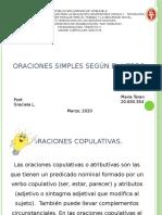 ORACIONES SIMPLES SEGÚN EL VERBO