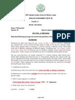 English - November assignment grade 3-Ans
