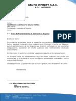 CARTA DE NOMBRAMIENTO  GRUPO INFINITY