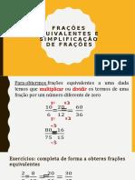 Frações equivalentes e simplificação de frações