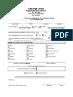 Cherokee Registration