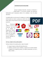 sesion 8 PARTIDOS POLÍTICOS DEL PERÚ MATERIAL