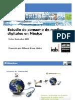 Consumo de Medios Digitales en Mexico Millward Brown 2009