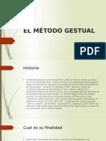 EL MÉTODO GESTUAL (1)