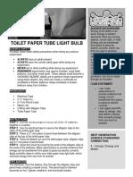 experiment guide toilet paper tuble light bulb