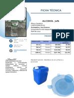 presentacion alcohol -cruz verde-